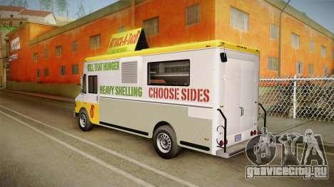 GTA 5 Brute Taco Van IVF для GTA San Andreas вид слева