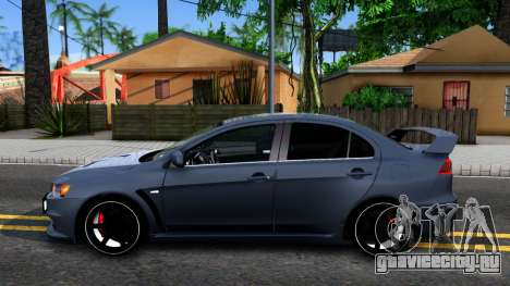 Mitsubishi Lancer X Evolution для GTA San Andreas вид слева