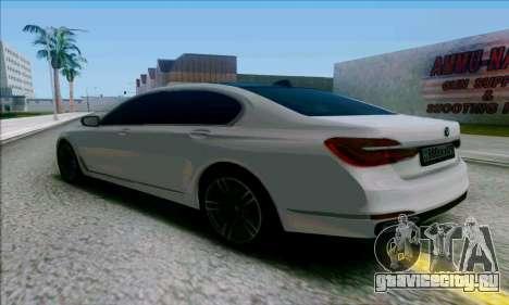 BMW 7 для GTA San Andreas вид сзади слева