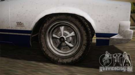 GTA 5 Declasse Sabre GT Painted Bumpers для GTA San Andreas вид сзади