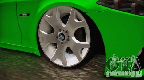 BMW M5 F10 Hulk для GTA San Andreas вид сзади