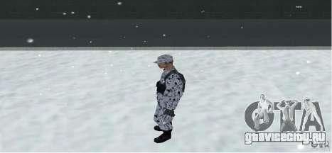 Зимний Скин (Army) 1.1 для GTA San Andreas третий скриншот