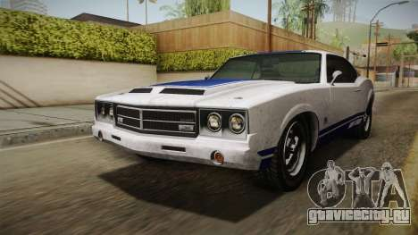 GTA 5 Declasse Sabre GT Painted Bumpers для GTA San Andreas вид сзади слева