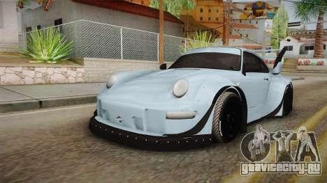 Porsche 993 RWB Rotana для GTA San Andreas вид сзади слева