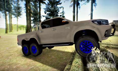 Toyota Hilux Arctic Trucks 6x6 для GTA San Andreas вид слева