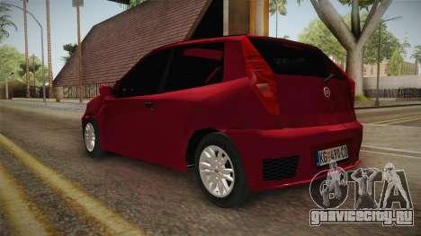 Fiat Punto Mk2 для GTA San Andreas вид сзади слева