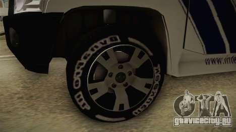 Nissan Patrol Y61 Police для GTA San Andreas вид сзади