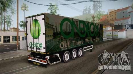 ONEXOX Trailer для GTA San Andreas вид сзади слева
