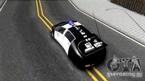 Alien Police San Fierro для GTA San Andreas вид сзади
