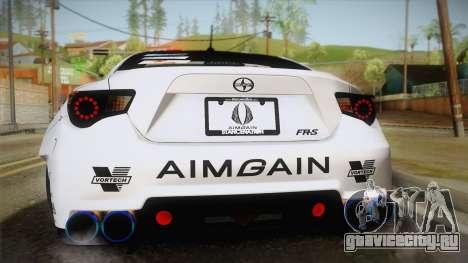 Scion FR-S Aimgain для GTA San Andreas вид изнутри