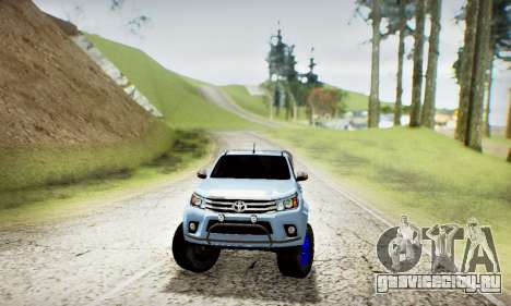 Toyota Hilux Arctic Trucks 6x6 для GTA San Andreas вид сбоку