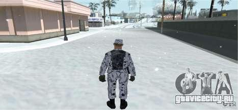 Зимний Скин (Army) 1.1 для GTA San Andreas второй скриншот