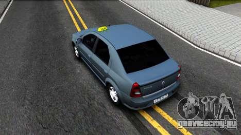 Renault Logan Taxi для GTA San Andreas вид сзади