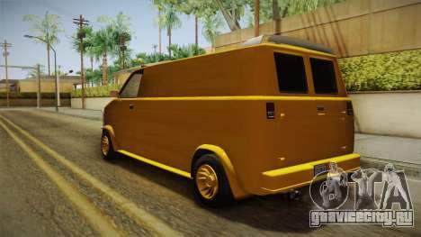 GTA 5 Declasse Burrito A-Team IVF для GTA San Andreas вид сзади слева
