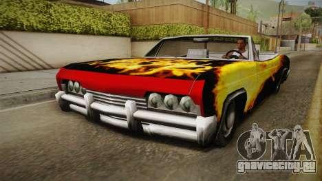 3 New Paintjobs for Blade для GTA San Andreas вид сзади