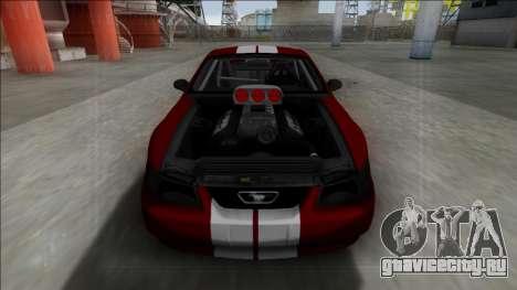 1999 Ford Mustang Drag для GTA San Andreas вид сзади слева