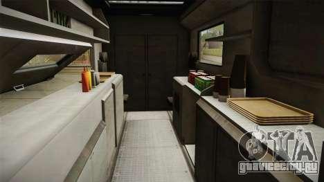 GTA 5 Brute Taco Van IVF для GTA San Andreas вид изнутри