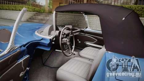 Chevrolet Corvette C1 1959 для GTA San Andreas вид изнутри