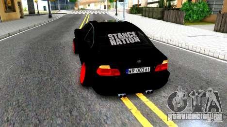 BMW 3-er E46 для GTA San Andreas вид сзади слева