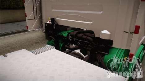Scania R620 ONEXOX для GTA San Andreas вид изнутри