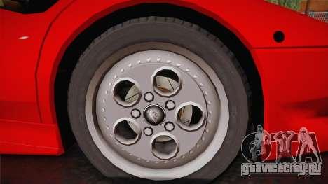 Lamborghini Diablo VT FBI 1995 для GTA San Andreas вид сзади слева