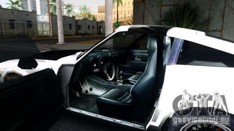 Nissan 280ZX Transformers G1 Bluestreak для GTA San Andreas вид изнутри