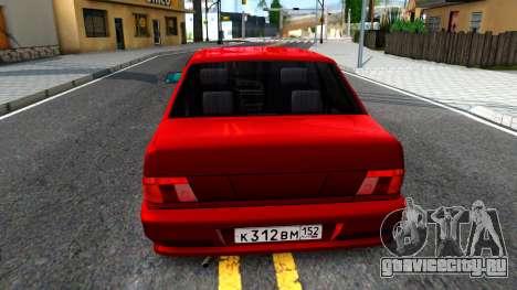 ВАЗ 2115 Retro Style для GTA San Andreas вид сзади слева