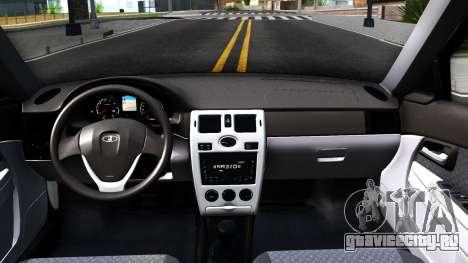 ВАЗ 2170 для GTA San Andreas вид изнутри