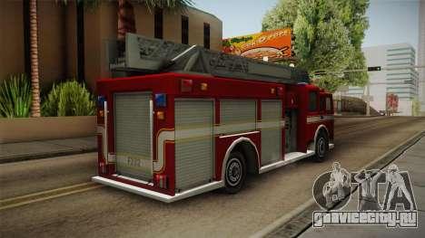 Driver: PL - Firetruck для GTA San Andreas вид сзади слева