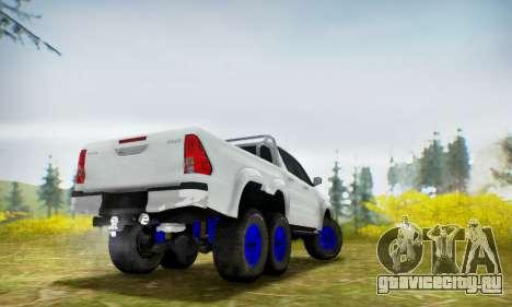 Toyota Hilux Arctic Trucks 6x6 для GTA San Andreas вид сзади слева