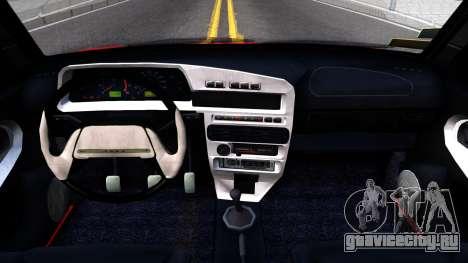 ВАЗ 2115 Retro Style для GTA San Andreas вид изнутри