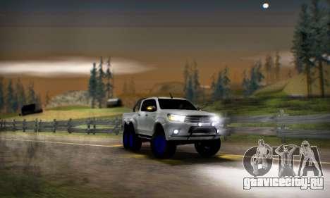 Toyota Hilux Arctic Trucks 6x6 для GTA San Andreas вид сзади