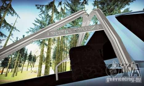 Toyota Hilux Arctic Trucks 6x6 для GTA San Andreas вид снизу