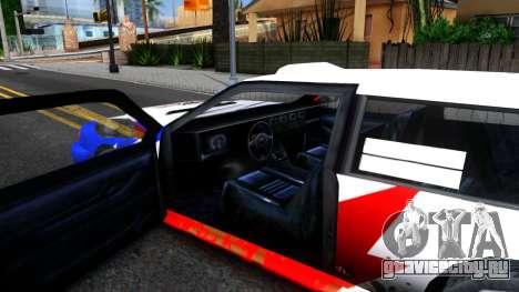 Flash Rally Paintjob для GTA San Andreas вид изнутри