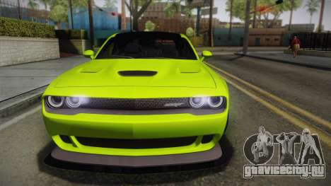 Dodge Challenger Hellcat Liberty Walk LB Perform для GTA San Andreas вид справа