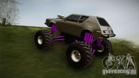 AMC Gremlin X 1973 Monster Truck для GTA San Andreas вид слева