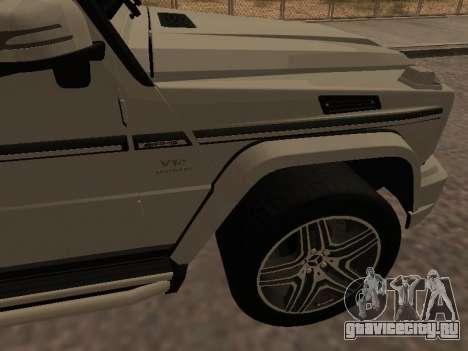 Mercedes-Benz G65 AMG Armenian для GTA San Andreas вид изнутри