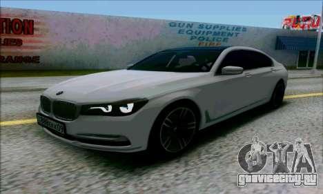 BMW 7 для GTA San Andreas вид справа