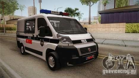 Fiat Ducato Police для GTA San Andreas