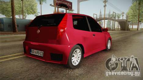Fiat Punto Mk2 для GTA San Andreas вид слева