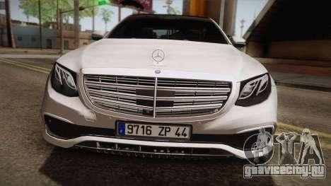 Mercedes-Benz E350e 2016 для GTA San Andreas вид сзади слева