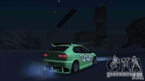 2003 Seat Leon Cupra R Series I для GTA San Andreas вид изнутри