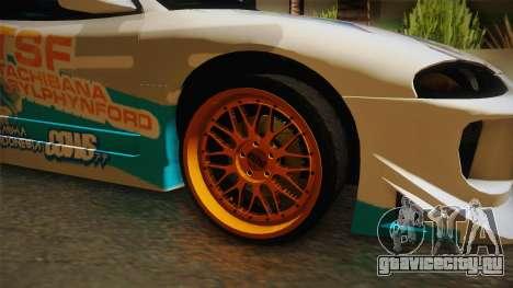 Mitsubishi Eclipse Tachibana Sylphynford Itasha для GTA San Andreas вид сзади