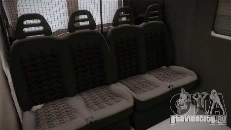 Fiat Ducato Police для GTA San Andreas вид изнутри