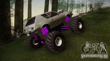 AMC Gremlin X 1973 Monster Truck для GTA San Andreas вид сзади слева
