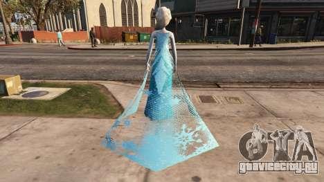 Elsa from Frozen для GTA 5 третий скриншот