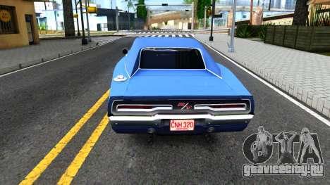 Dodge Charger 1969 для GTA San Andreas вид сзади слева