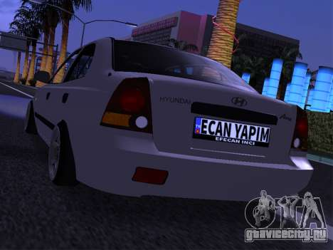 Hyundai Accent - Ecan Yapim для GTA San Andreas вид сзади слева