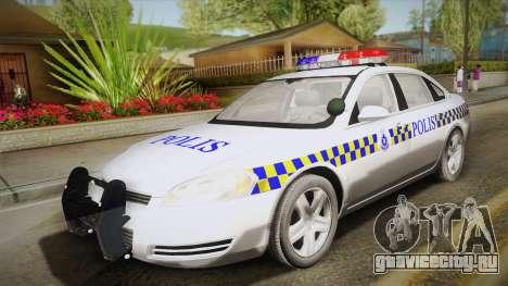 Chevrolet Impala Police Malaysia для GTA San Andreas