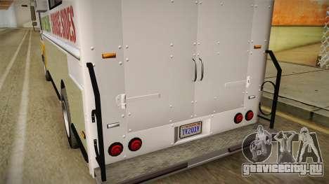 GTA 5 Brute Taco Van IVF для GTA San Andreas вид снизу